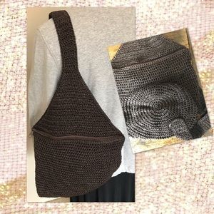 Handbags - One Strap Crochet Backpack
